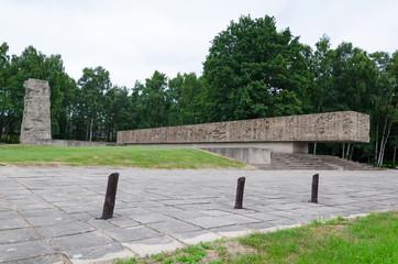 Memorial monument in Stutthof