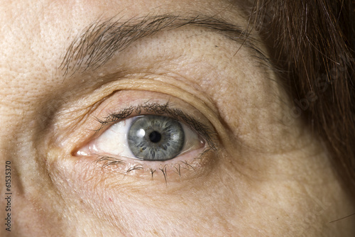 Close up old women eye