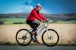 Radfahrerin in Aktion
