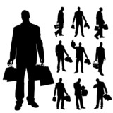 Vector silhouettes of men.