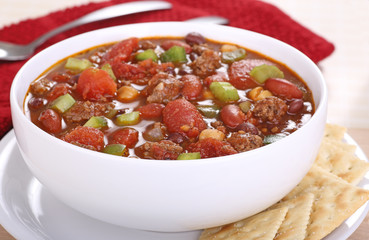 Bowl of Homemade Chili