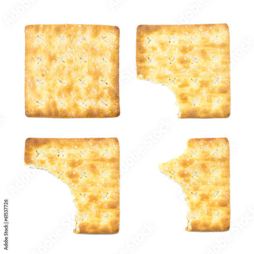 sugar crackers isolated on the white background. food snack whea