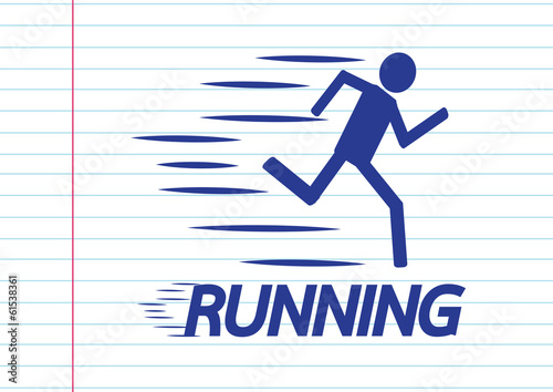 Running idea in Vector Illustration