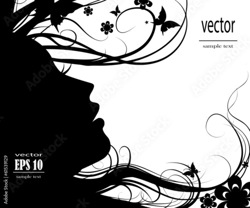 Silhouette of beautiful girl
