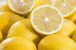 Lemons on vintage wooden background