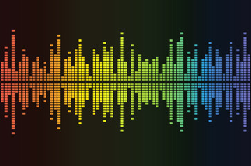 Graphic equalizer reflections background