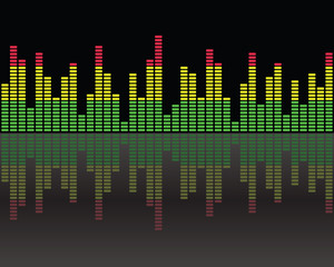Graphic equalizer color background