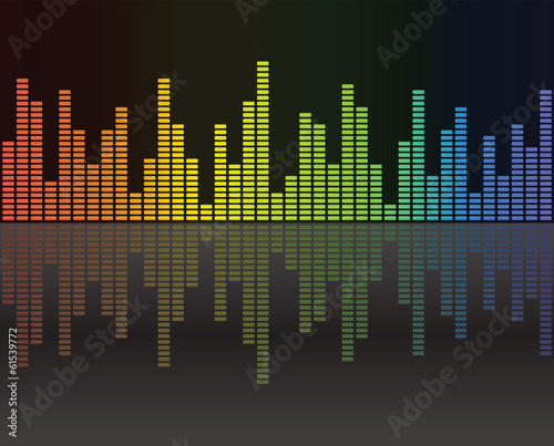 Graphic equalizer background reflections