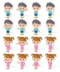 子供全身表情_立体