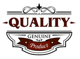 Quality genuine product banner poster