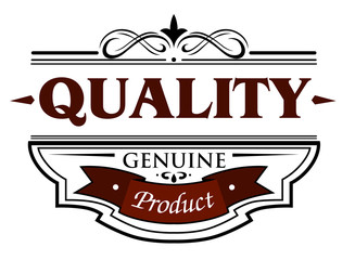 Quality genuine product banner