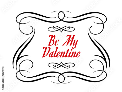 Be My Valentine frame