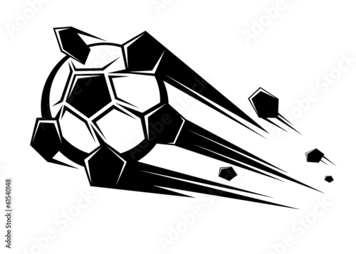 Speeding soccer ball loosing its pentagons