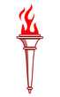 Flaming torch icon