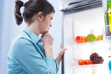 Looking in the refrigerator