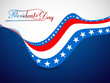 President Day in United States of America colorful stylish wave