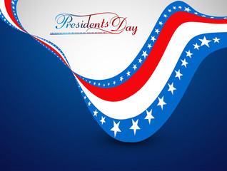 United States of America in President Day for beautiful creative