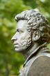 Leinwanddruck Bild - The bronze bust of Alexander Pushkin in Gomel. Belarus