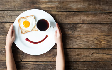 Smile for a good morning breakfast