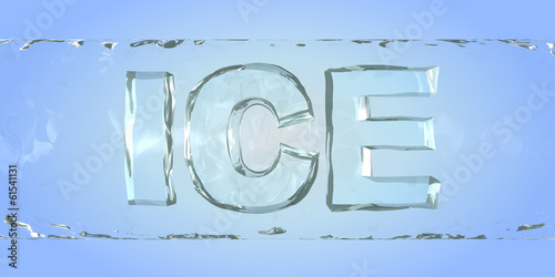canvas print picture Ice. Word in the ice bar
