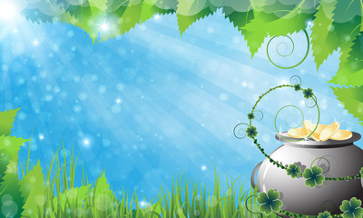 St. Patrick's Day spring background