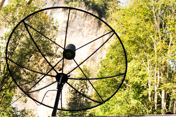 satellite dish is communication technology in countryside