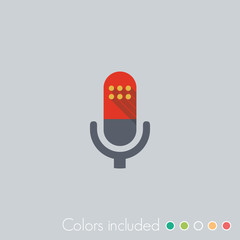 Microphone - FLAT UI ICON COLLECTION