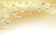 Gold and diamonds Background IV