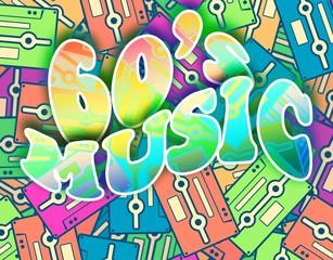 60s music retro concept, Vintage poster design