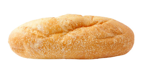 Bread isolated on white with clipping path