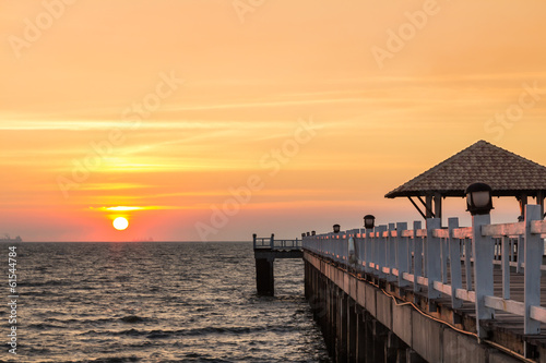 Sunset at pier