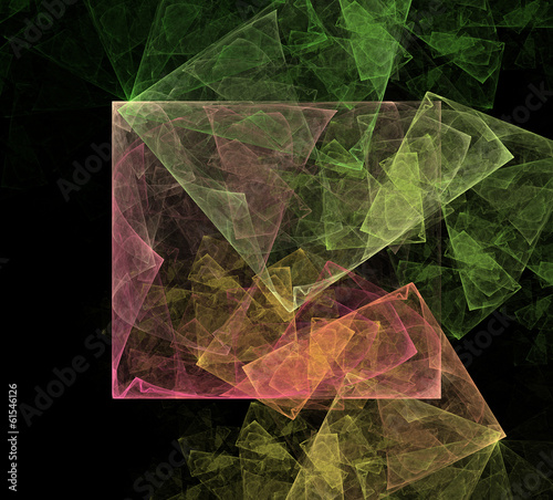 Abstract Art Cubic Space
