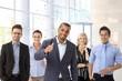 Team portrait of international business group
