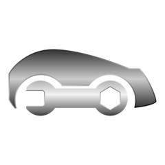 Logo klucz samochód