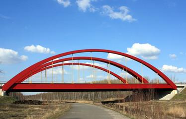 A 38, Autobahnbrücke, Neue Harth bei Leipzig