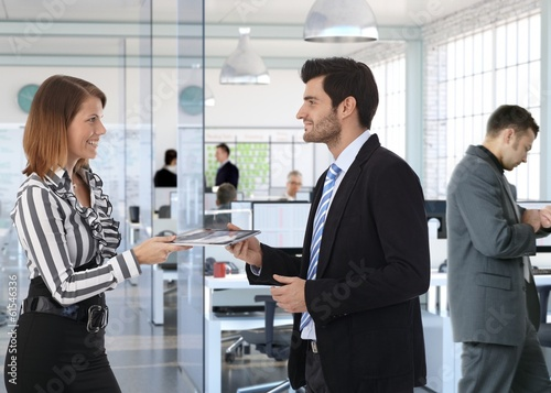 Corporate business people working at office