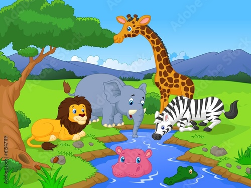 savannah-dekoracje-ze-zwierzetami-i-waterhole