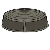 Manhole vector drawing
