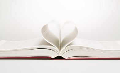 Heart in the form of sheets of the book