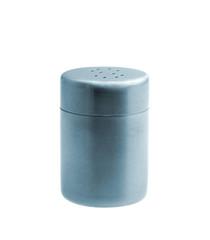 Metal salt shaker isolated on white background