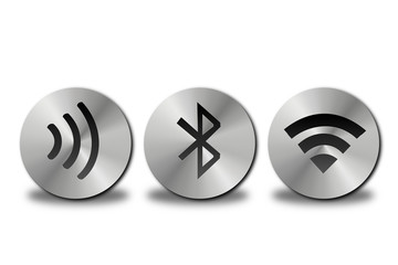 Buttons WiFi WLAN Bluetooth