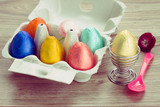 colorful eggs for easter breakfast
