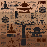 yoga meditation namaste vector illustration