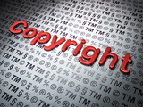 Law concept: Copyright on Law background