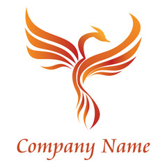 burning phoenix logo