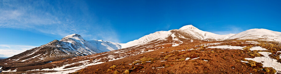 Icelandic autumn landscape panorama 1x3.8 Ratio