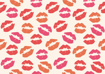 lipstick mark seamless pattern