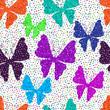 Spring seamless vivid white pattern