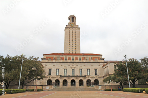 Poster Texas Main Building on the University of Texas at Austin campus