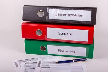 Ablagesystem für Steuerzahlungen